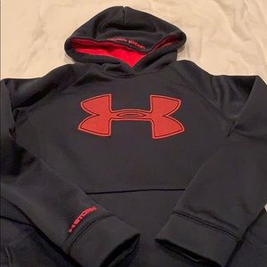 Under Armour black and red hoodie